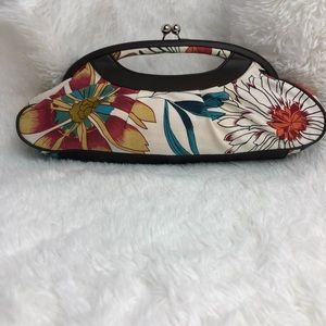 POPPIE JONES Multi-Colored Floral Clutch. EUC.
